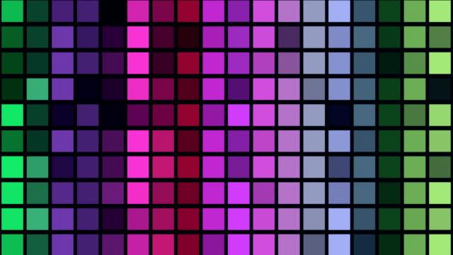 stockvideo's en b-roll-footage met kleurrijke dansen neon pleinen-loop achtergrond animatie 4k uhd - vierkant tweedimensionale vorm