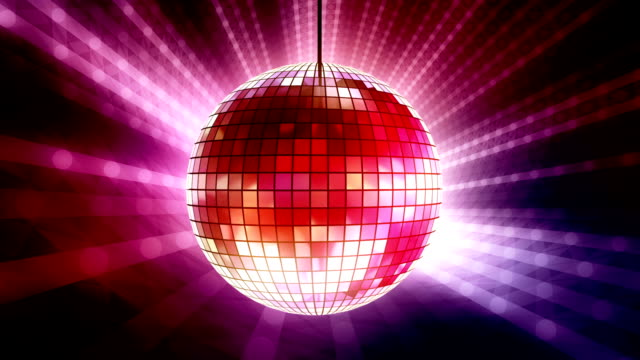 colorful disco ball loop - mirror ball stock videos & royalty-free footage