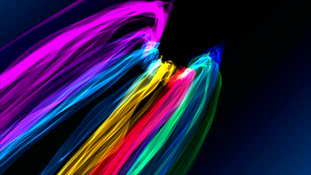 colorful distorted ribbons backgrounds - ribbon sewing item stock videos & royalty-free footage