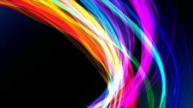 stockvideo's en b-roll-footage met kleurrijke vervormde linten achtergronden - spectrum