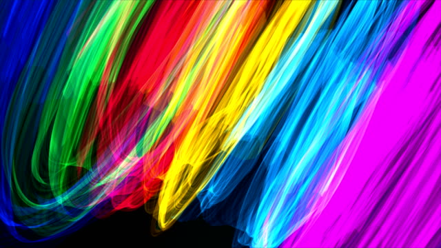 colorful distorted ribbons backgrounds - multi coloured stock videos & royalty-free footage