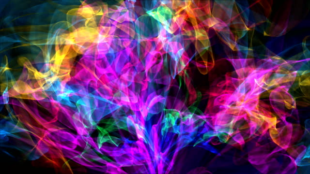 colorful distorted ribbons backgrounds - award ribbon stock videos and b-roll footage