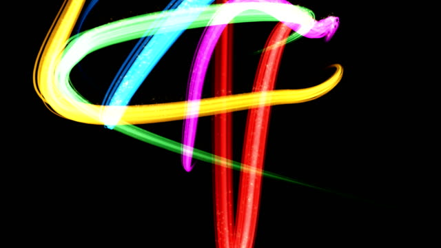 colorful distorted ribbons - award ribbon stock videos and b-roll footage
