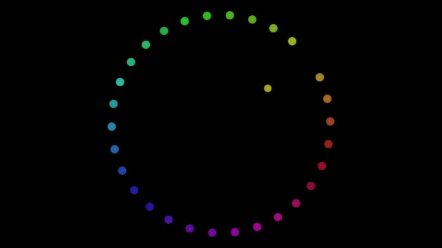colorful dots abstract rotation connected - spotted stock videos & royalty-free footage