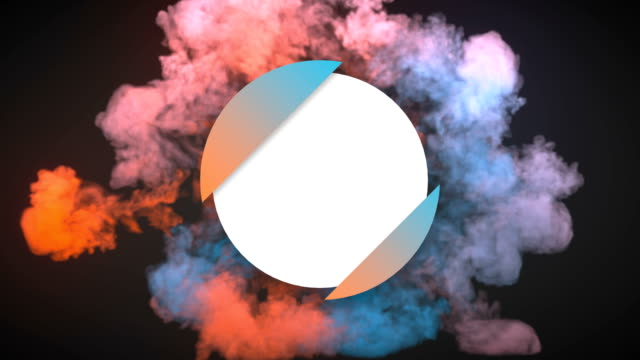 colorful dynamics beautiful shockwave effect reveal circle badge with alpha matte channel for placing your text or logo. 3d rendering animation. 4k, ultra hd resolution - explosive stock videos & royalty-free footage