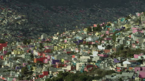 colorful ecatepec near mexico city - population explosion stock videos & royalty-free footage