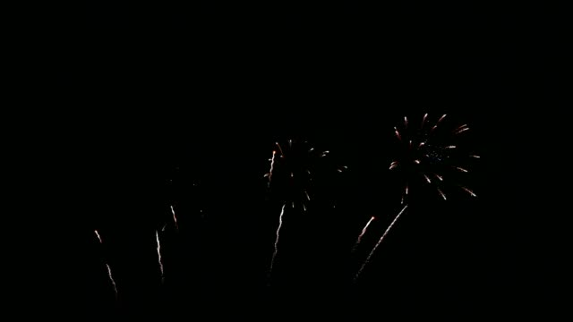 colorful fireworks exploding with shining in annual festival - fashion show stock videos & royalty-free footage