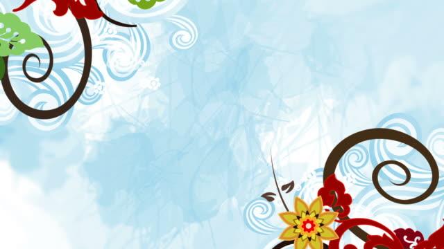 vidéos et rushes de fleurs colorées animation-loop - printemps