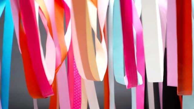 colorful flowing ribbons - dekoration bildbanksvideor och videomaterial från bakom kulisserna