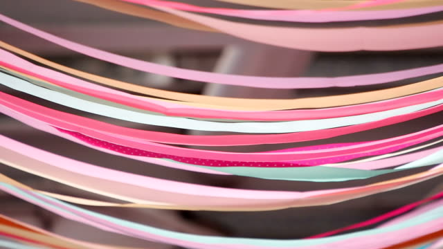 colorful flowing ribbons - decoration stock videos & royalty-free footage