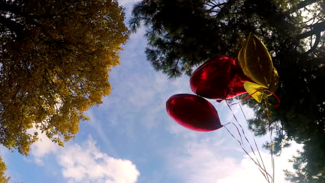 vídeos y material grabado en eventos de stock de volar globos de colores - globo de helio