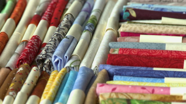 colorful folded fabrics - folded stock videos & royalty-free footage