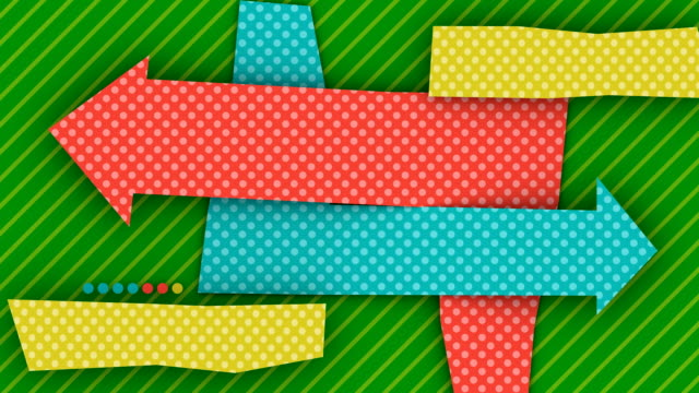 colorful frames with arrows for copyspace (3 versions) - polka dot stock videos and b-roll footage