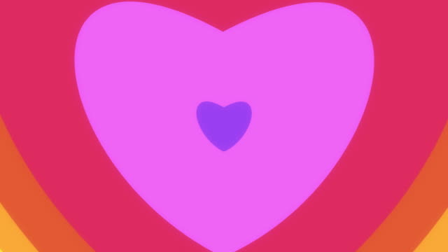 colorful heart wipe (with alpha) - concentric stock videos & royalty-free footage