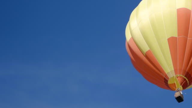 colorful hot air balloon - hot air balloon stock videos & royalty-free footage