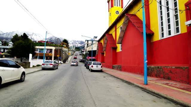 Kleurrijke huizen aan het einde van de wereld