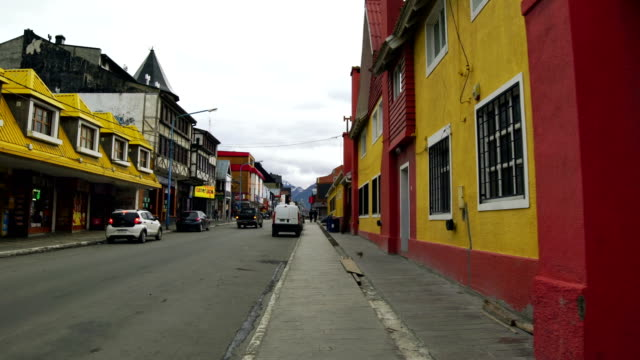 colorful houses at the end of the world - argentina stock videos & royalty-free footage