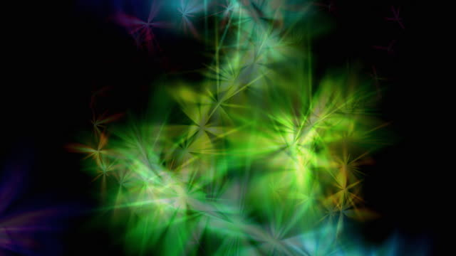 colorful ice crystal stars - ice crystal stock videos and b-roll footage
