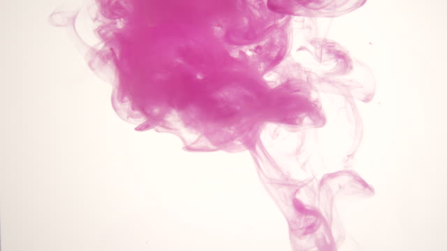 colorful ink floating around in the water - dissolving stock videos & royalty-free footage