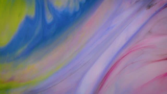 カラフルなインクの動きの背景 - 広げる点の映像素材/bロール