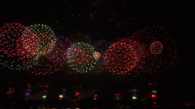 Colorful Japanese Fireworks
