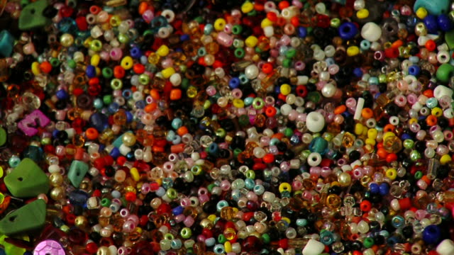 colorful jewelry beads - bead stock videos & royalty-free footage