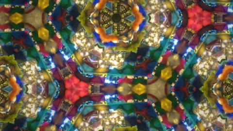 colorful kaleidoscope - kaleidoscope pattern stock videos & royalty-free footage