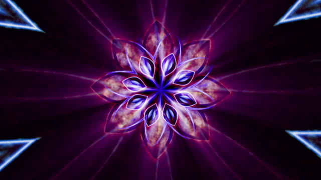 colorful kaleidoscopic video background - mandala stock videos & royalty-free footage