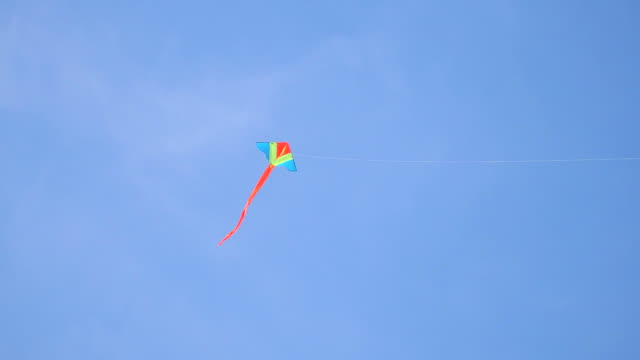 Colorful kite on clear sky