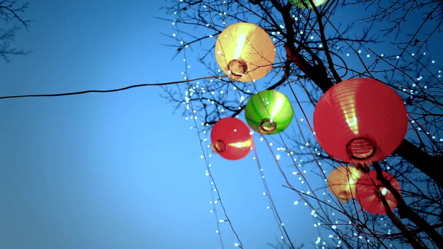 Colorful lantern in Chinese lunar new year