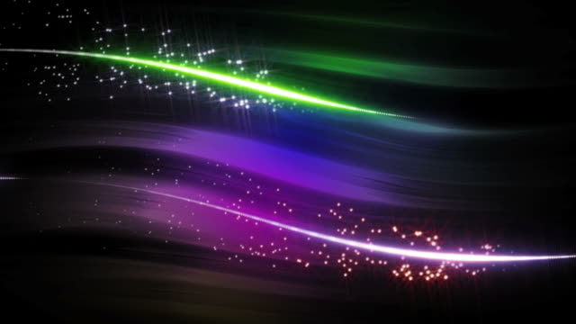 Colorful Light Strokes Background Loop