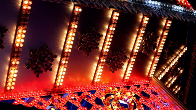 colorful lights - fairground stall stock videos & royalty-free footage