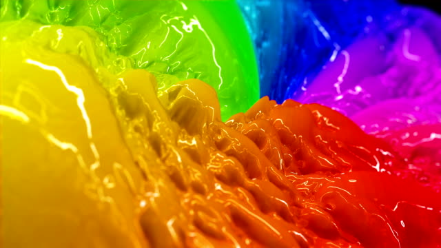 Colorful Liquid Paint