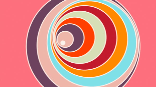 bunte looping-kreise - bunt farbton stock-videos und b-roll-filmmaterial