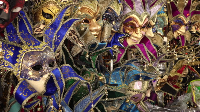 colorful mardi gras / carnival masks for sale in new orleans, louisiana - new orleans mardi gras stock videos and b-roll footage