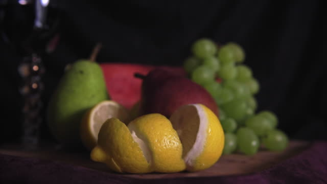 vidéos et rushes de colorful mix of fruits - varsovie
