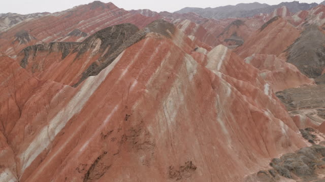 Colorful mountain in Danxia landform
