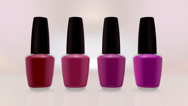 colorful nail polishes bottles. - pedicure stock videos & royalty-free footage