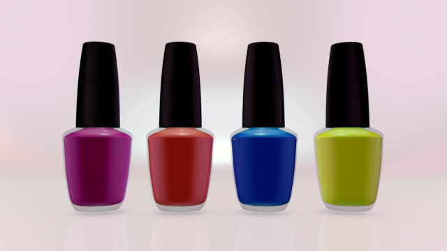 colorful nail polishes bottles. - nail varnish stock videos and b-roll footage