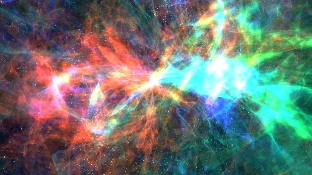 カラフルな星雲 - nebula点の映像素材/bロール