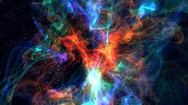 vídeos y material grabado en eventos de stock de colorido nebulosa - supernova