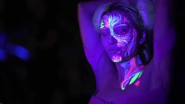 colorful night - fluorescent light stock videos & royalty-free footage