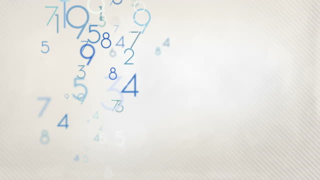 Colorful Numbers Background Loop - Pastel Blue HD