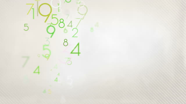 colorful numbers background loop - pastel green hd - number stock videos & royalty-free footage