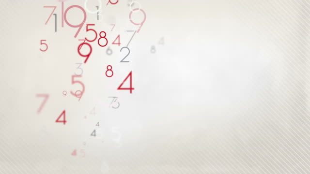 Colorful Numbers Background Loop - Pastel Red/Black HD