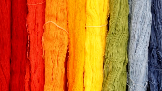 Colorful of silk threads