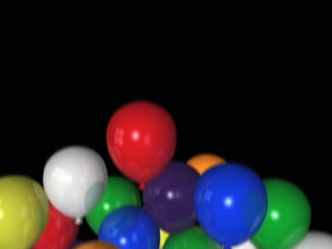 colorful party balloons transition - artbeats stock videos & royalty-free footage