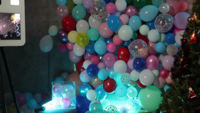 colorful party decoration and light - coin operated stock videos & royalty-free footage