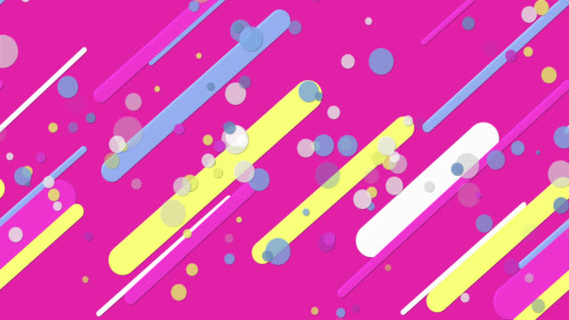 カラフルなパステルシームレス幾何学模様ピンクの背景 - パステルカラー点の映像素材/bロール