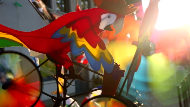 colorful pinwheels - air to air shot stock videos and b-roll footage